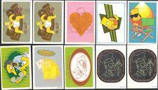 ▬► Lot 70 Stickers PANINI THE SIMPSONS 1999 Matt Groening 12 doubles