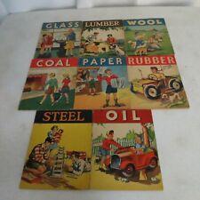 Lot of 8 Whitman Publishing Children's Glass,Lumber,Wool,Coal,Paper,Rubber,Steel