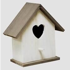 In legno bianco Uccello Selvatico CASA HOTEL Nesting Box Giardino Alimentazione Stazione UOVO SCATOLA