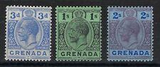 GRENADA SG121 3d Blue; SG98a 1s Black on green and 2s Purple & blue SEE SCANS.