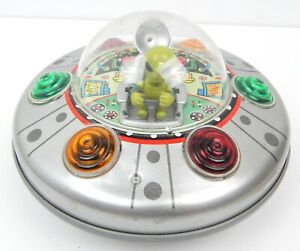 Rocket USA  Alien Spaceship Saucer UFO 1998 Made In Japan Roswell