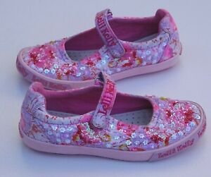 Gorgeous LELLI KELLY Girl's Pink Sparkly Beaded Shoes size UK 2.5 / EU 35