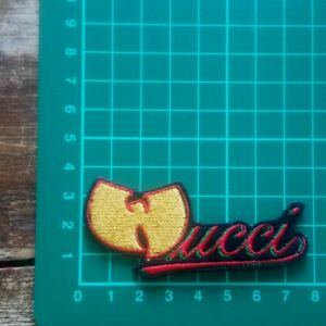 WU TANG  IRON ON EMBROIDERED PATCH UK SELLER HIP HOP WUCCI