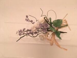 White Rose And Lavender  Sugar Flower Spray