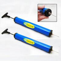 2 Hand Sports Air Pump Needle Adapter Footbal Basketball Ball Balloons Soccer !