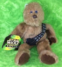 """1997 Kenner Star Wars Buddies CHEWBACCA 10"""" Chewie Bean Bag Plush Toy With Tags"""