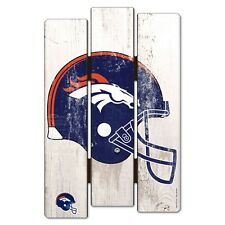 """DENVER BRONCOS FENCE WOOD SIGN 11""""X17'' BRAND NEW FREE SHIPPING WINCRAFT"""