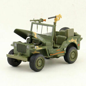 1:24 Willys WWII Jeep Military Vehicle Model Diecast Army Vehicles Toy Kids Gift