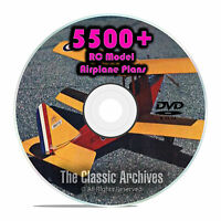 5,500 RC Model Airplane Plans, Gliders, Electric, Scale, Templates PDF DVD G51