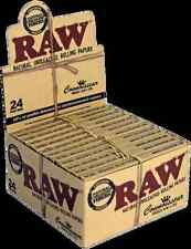 Full Box (24) Raw Classic Connoisseur King Size Rolling Papers With Filter Tips