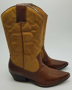 Aldo Brown Leather Cowboy Boots. Size 4. Brand New!