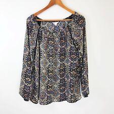 Sun & Shadow Top Size Large Boho Blouse Off The Shoulder Crochet Festival Hippie