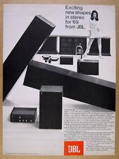 1969 JBL Alpha L75 Minuet SC99 Athena Cortina Speakers SA660 vintage print Ad