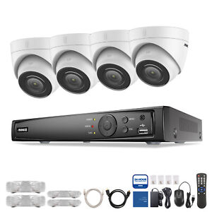 ANNKE 8MP CCTV System PoE 8CH 4K Network NVR Dome IP Audio Camera Security IP67