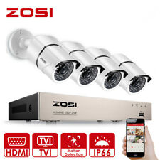 ZOSI 1080P 8CH DVR 4x3000TVL CCTV Camera Outdoor Home Security System Record