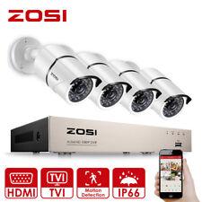 ZOSI 1080P 8CH DVR 4x3000TVL CCTV Camera Outdoor Home Security System Record