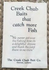 New listing *Nra* Creek Chub (Garrett, In) 1934Pc (color fold-out insert catalog) Ex/Ex+