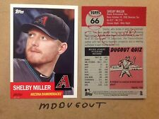 SHELBY MILLER #66 Diamondbacks Pitcher #ed/49 made 2016 Topps Archives 1953 5x7