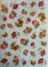 Rice Paper for Decoupage Scrapbook Craft Small Bouquet Flowers 67