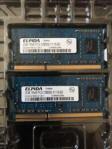 Elpida 4GB (2 x 2GB) SO-DIMM 1600 MHz PC3-12800 DDR3 Memory Apple MAC