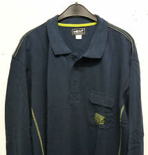 Camicie casual e maglie da uomo a manica lunga in cotone blu