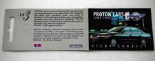 1995 Malaysia Proton Car Booklet Stamps ( CTO Kuala Lumpur Cachet) rare