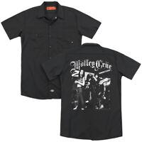 MOTLEY CRUE BAND PHOTO Licensed Men's Dickies Graphic Work Shirt SM-3XL