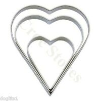 Tala 3 Hearts Baking Biscuit Scone Cookie Pastry Cake Icing Craft Cutter 10cm 4""