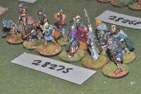 25mm dark ages / viking - warriors 12 figures - inf (28275)
