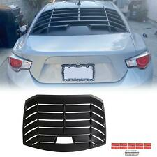 Rear Window Shield Louver Fits 13-19 Scion Frs Subaru Brz (Fits: Subaru)