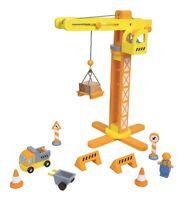 Lelin Wooden Crane & Construction Set Childrens Creative Pretend/Role Play Set