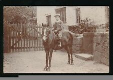 Somerset WILLITON Boy on horse Long St? sent by boy? RP PPC c1990/10s?