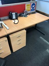 Office Desk 1.4m X 0.75m With Pedestal And Partition