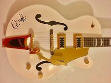 Brian Setzer Signed Stray Cats White Thunder Guitar Gretsch Electromatic Psa/Dna