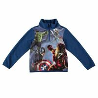 MARVEL AVENGERS  ZIP FLEECE WARM  BOYS JUNIOR TOP BLUE 13 YRS  BNWT  B351