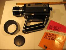 Super 8 Schmalfilmkamera 8xMotorzoom.Revue De Luxe-Antique 8mm film camera