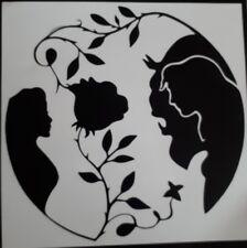 Disney Beauty And The Beast Rose Flower Wall Glass frame Vinyl Sticker Decal