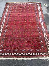 antiques-swiss* Beautiful Antique Baloutchi rug 4`7 x 6`9 ft