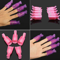 Multiple 10PC Plastic Nail Art Soak Off Clip Cap UV Gel Polish Remover Wrap Tool