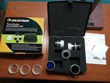Celestron PowerSeeker Accessory Kit Fully Coated Kellner Eyepieces 94306 Nice !