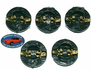 "Chrysler Dash 1/2"" Instrument Gauge Cluster Idiot Light Bulb Lamp Socket 5pcs B"