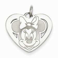 Sterling Silver Disney Minnie Heart Charm - SKU #135794