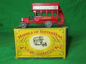 Matchbox Yesteryear Y2 B Type London Bus good in worn box
