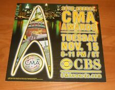 Cma Awards New York City Poster Flat 2005 Promo 12x12 Country Music Awards