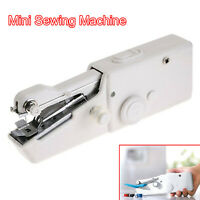 Mini Portable Cordless Hand Held Single Stitch Fabric Sewing Machine Home Travel