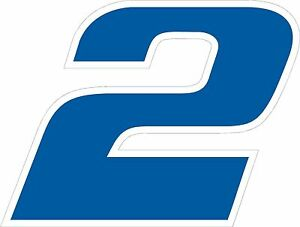 NEW FOR 2018 #2 Brad Keselowski Racing Sticker Decal S-XL - Various Colors