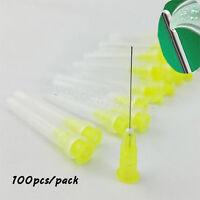 100 pcs Dental Endo Irrigation Needle Tip 30GA End-Closed Side Hole Syringes