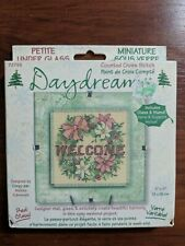 New Dimensions Daydreams Christmas Welcome Mini Cross Stitch Glass Kit
