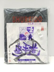Authentic Bushido Shureido Karate Heavy Weight Gi Black Size 4.5 Brand New
