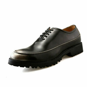 Fall Men Lace Up Comfortable Shoes Leather Height Increasing Business Oxford